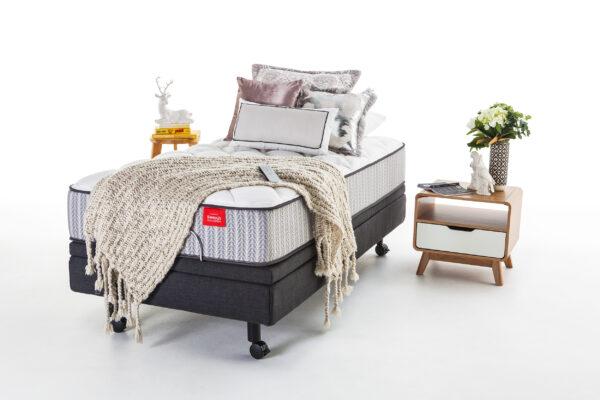 Hi-Lo Adjustable-FLAT DRESSED-bed base