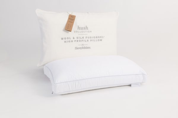 Sleepmaker Hush Wool & Silk FusionGel High Profile Pillow