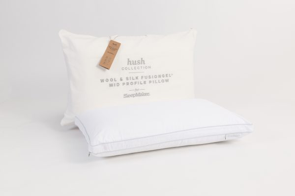 Sleepmaker Hush Wool & Silk FusionGel Medium Profile Pillow