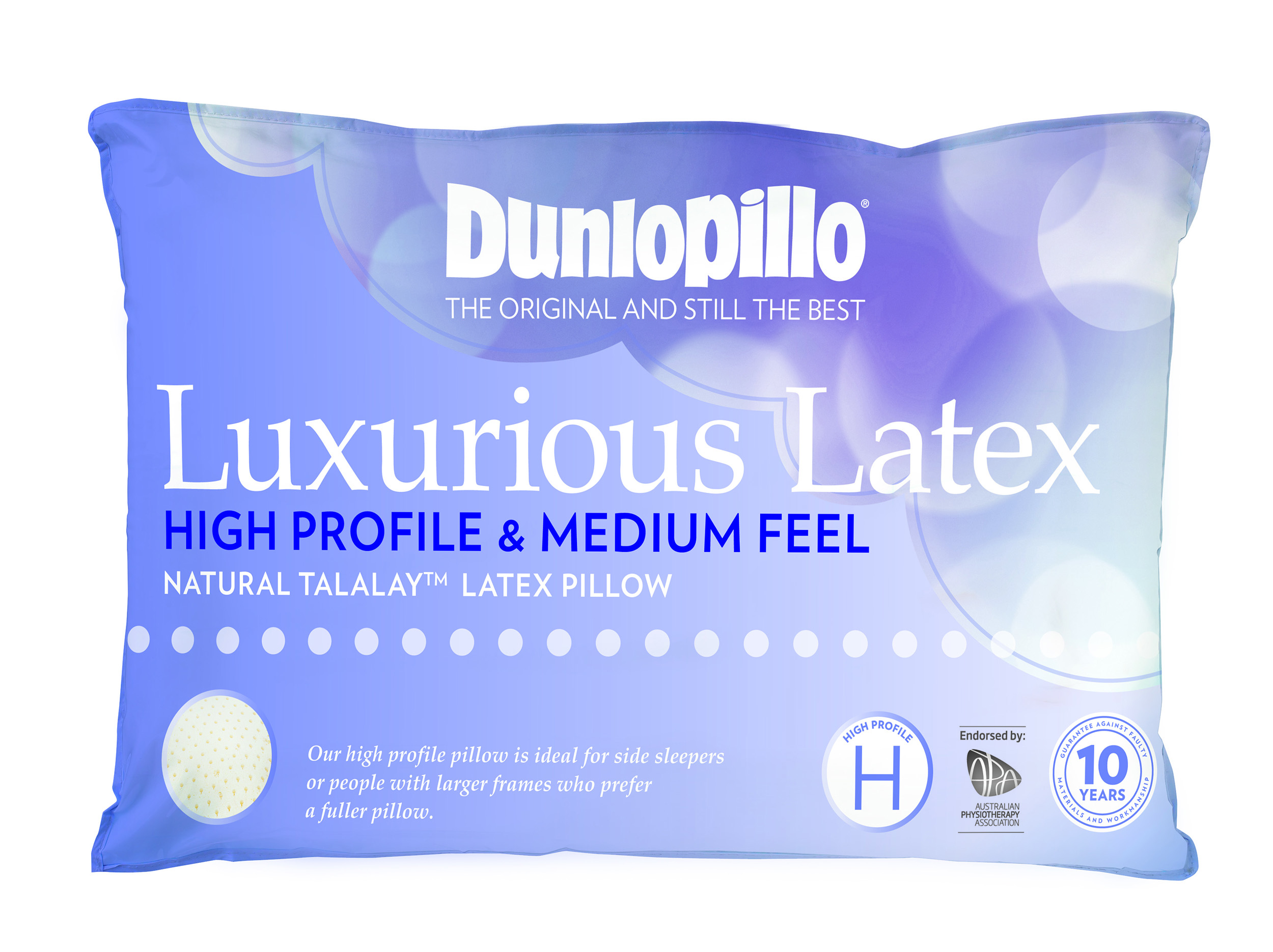 Dunlopillo Luxurious Latex High Profile Medium Feel Pillow