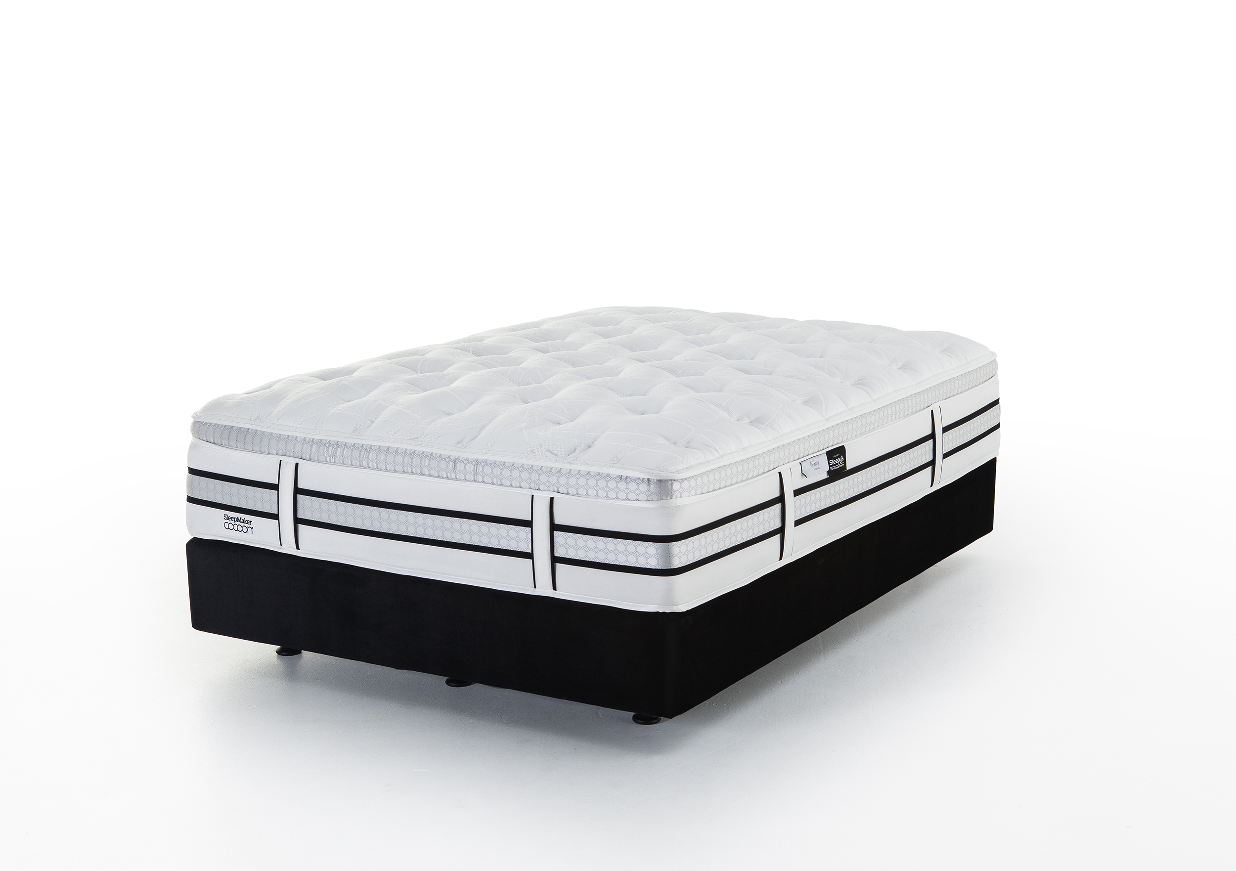 Sleepy's Cocoon Black Velvet Bed Base