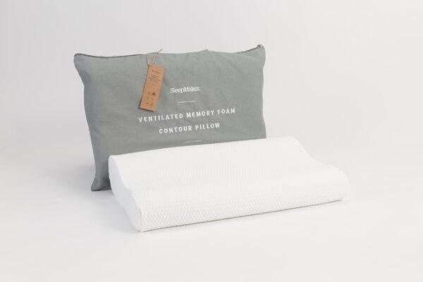 Sleepmaker Ventilated Memory Foam Contour Pillow