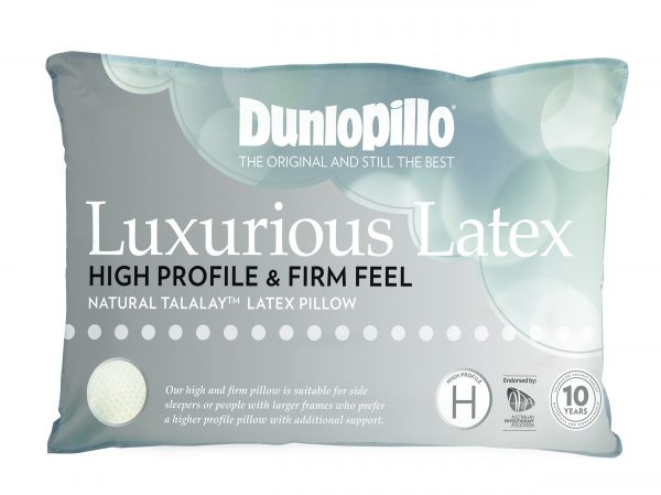 Dunlopillo Luxurious Latex High Profile Firm Feel Pillow