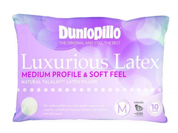 Dunlopillo Luxurious Latex Medium Profile Soft Feel Pillow