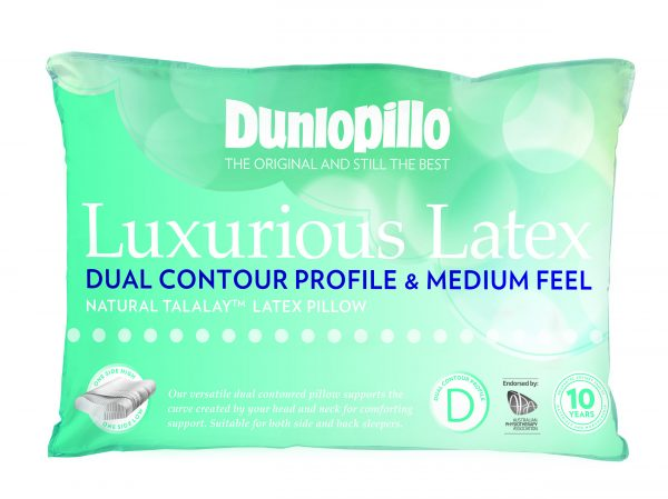 Dunlopillo Luxurious Latex Dual Contour Medium Feel Pillow