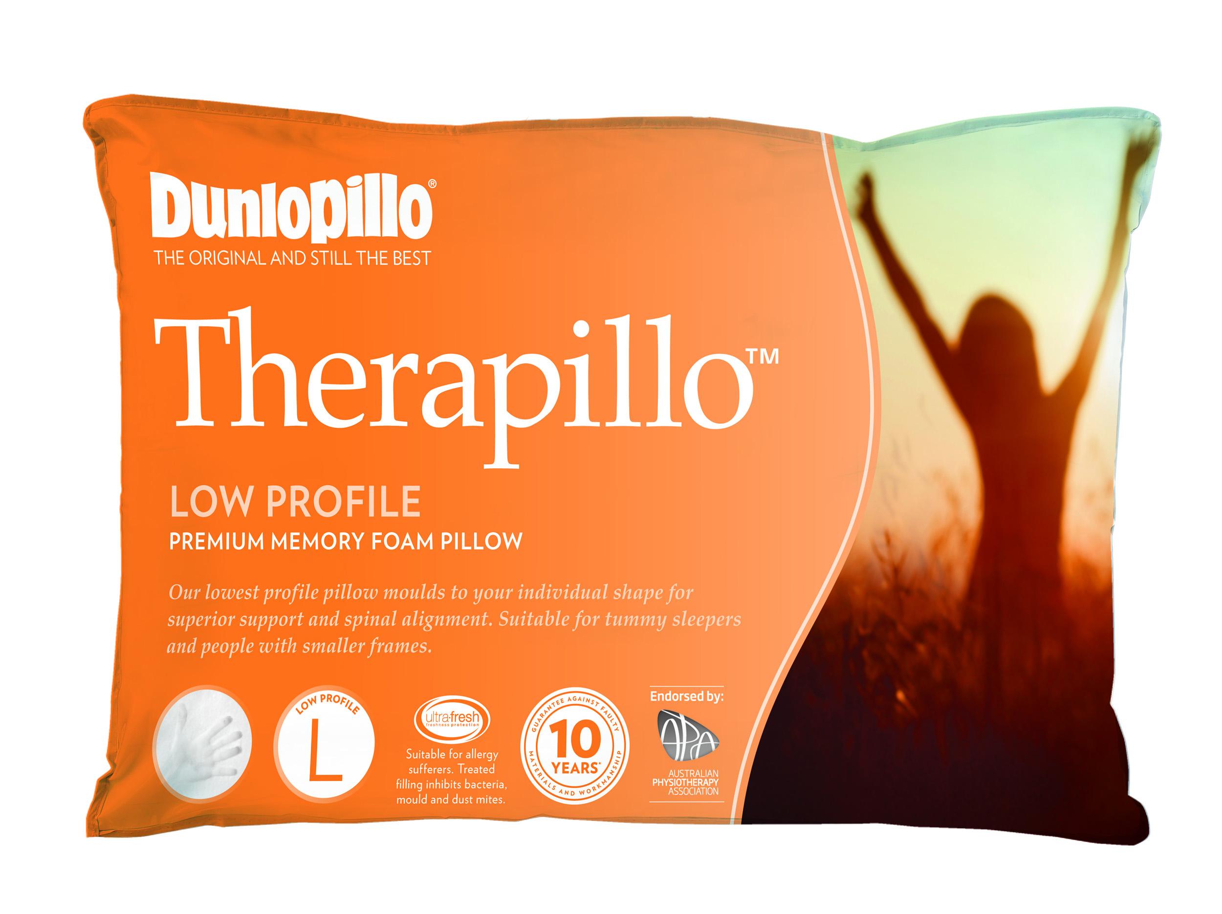 Therapillo Premium Memory Foam Low Profile Pillow