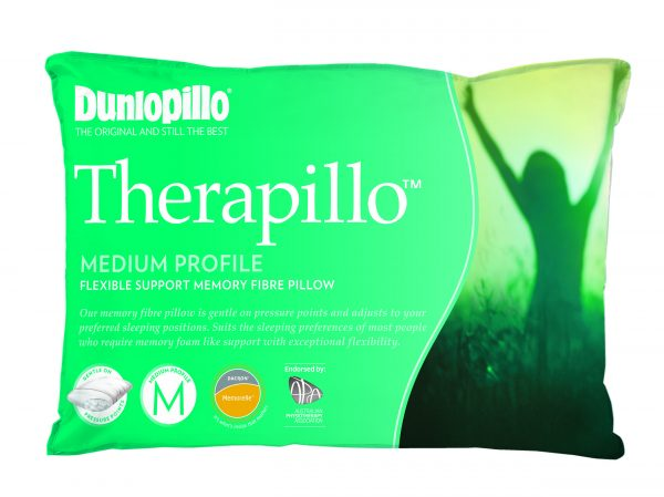 Therapillo Flexible Support Memory Fibre Medium Profile Pillow