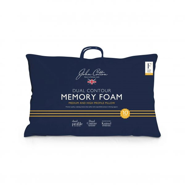 John Cotton Memory Foam Pillow - Dual Contour