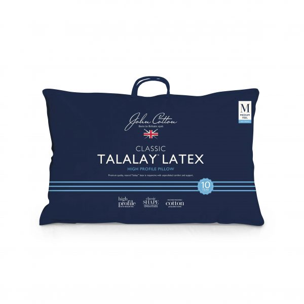 John Cotton Talalay Latex Pillow - High