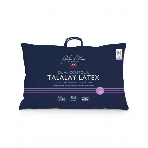 John Cotton Talalay Latex Pillow - Dual Contour