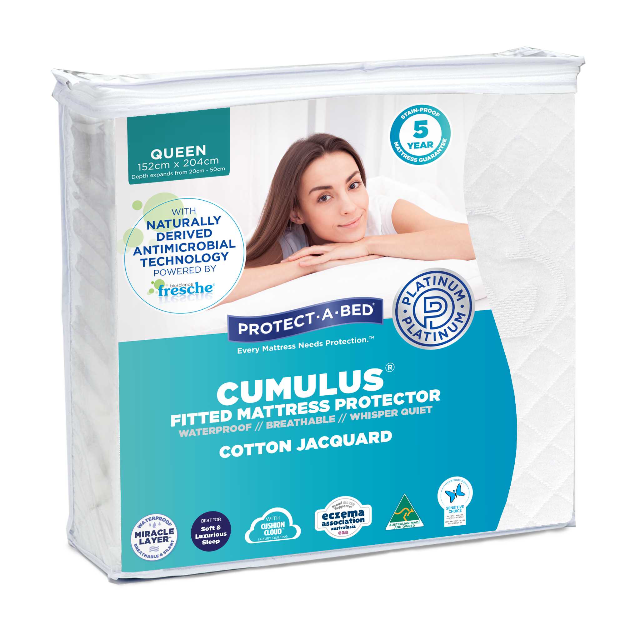Cumulus™ Cotton Jacquard Fitted Mattress Protector