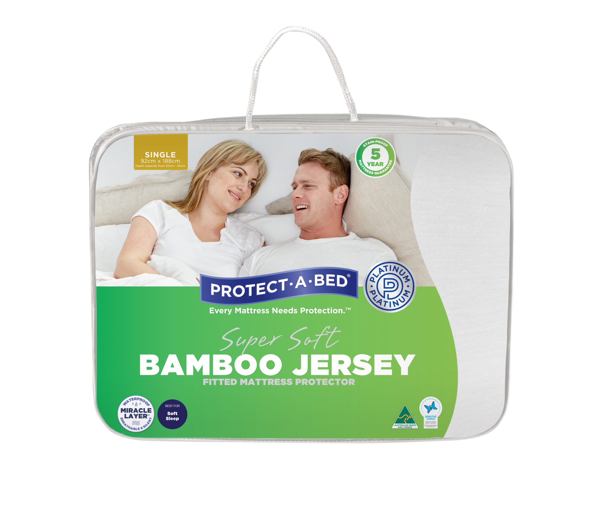 Bamboo Jersey Fitted Mattress Protector