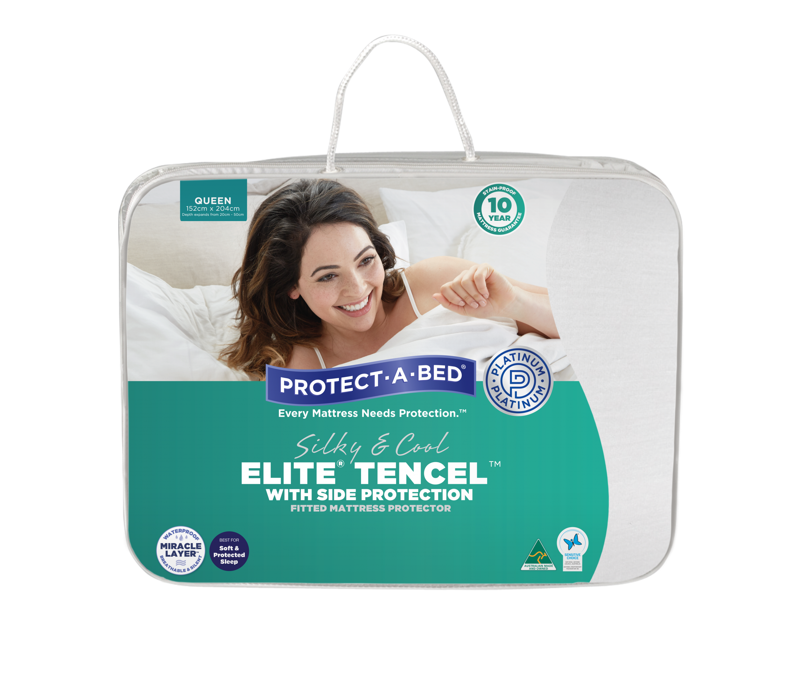 Elite® Tencel™ with Side Protection Fitted Mattress Protector