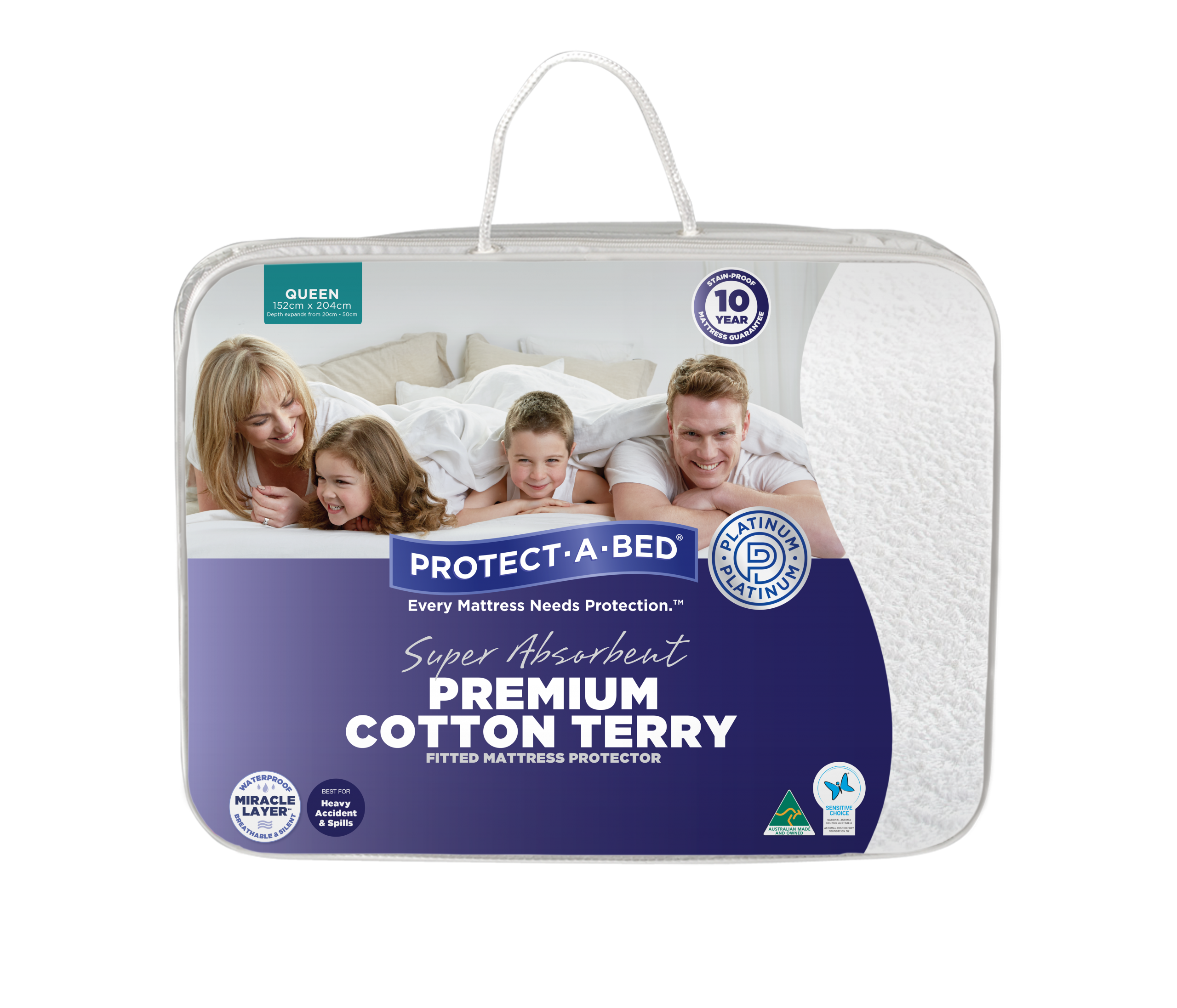 Premium Cotton Terry Fitted Mattress Protector