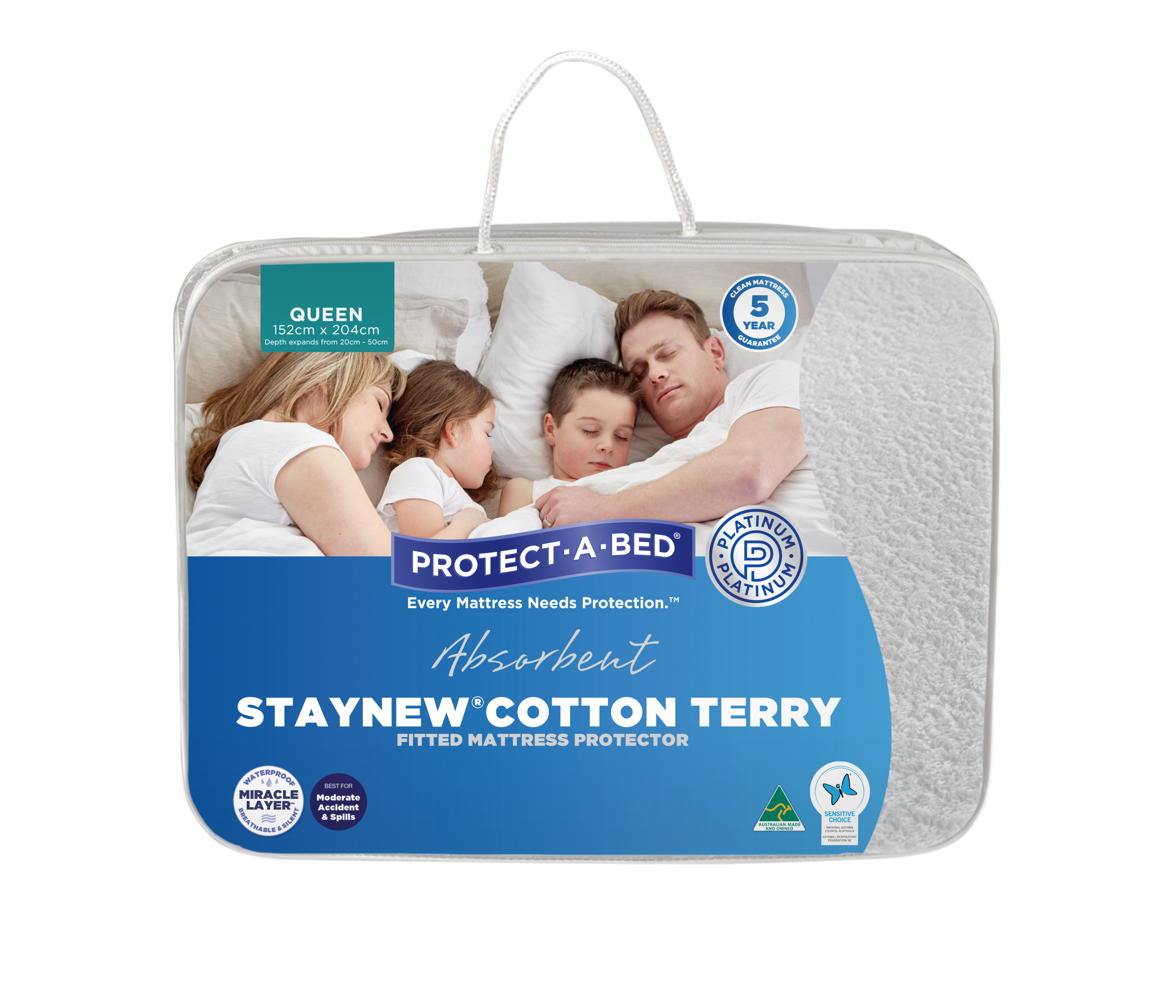 Staynew® Cotton Terry Fitted Mattress Protector