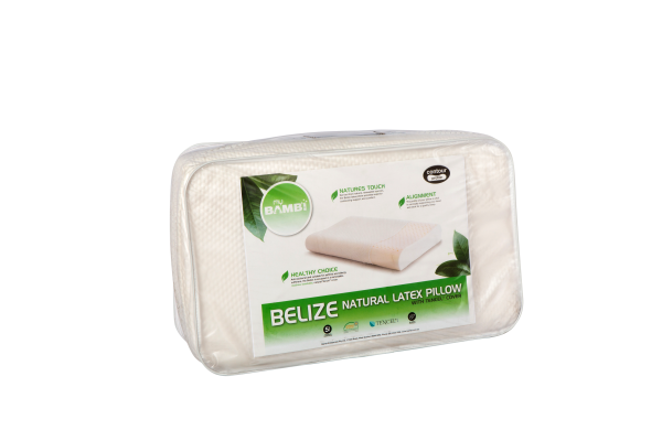 Belize Natural Latex Contour Profile Pillow with Tencel Cover