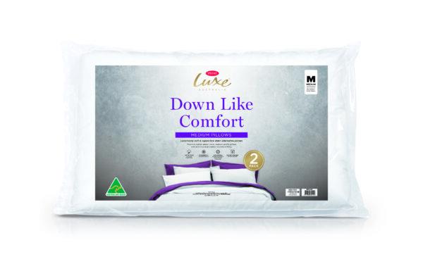 Tontine Luxe Downlike Comfort Medium (2 Pack Pillow)