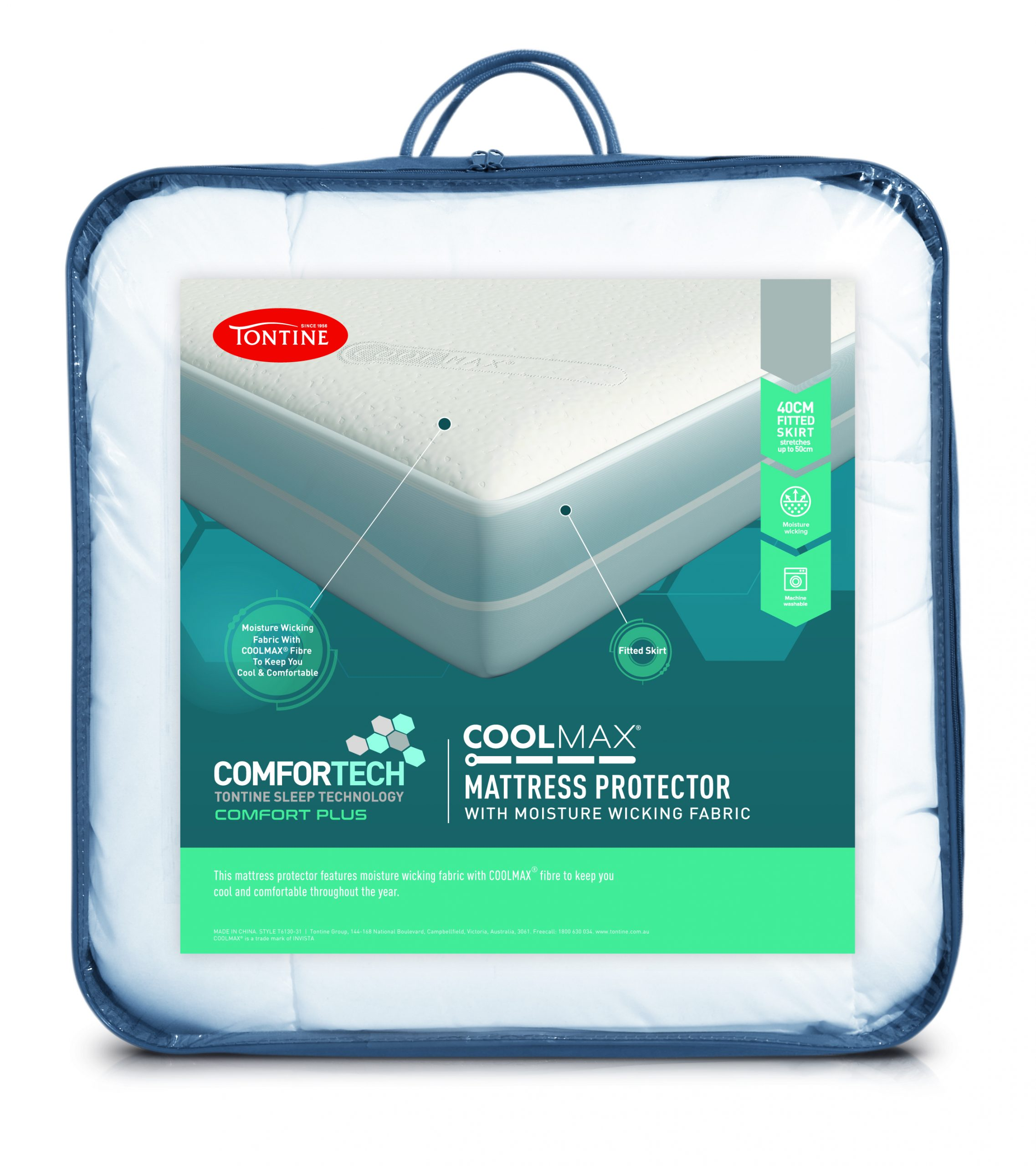 Tontine Comfortech Coolmax Mattress Protector