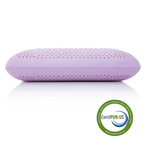 Malouf Zoned Dough Lavender Pillow with Aromatherapy Spray