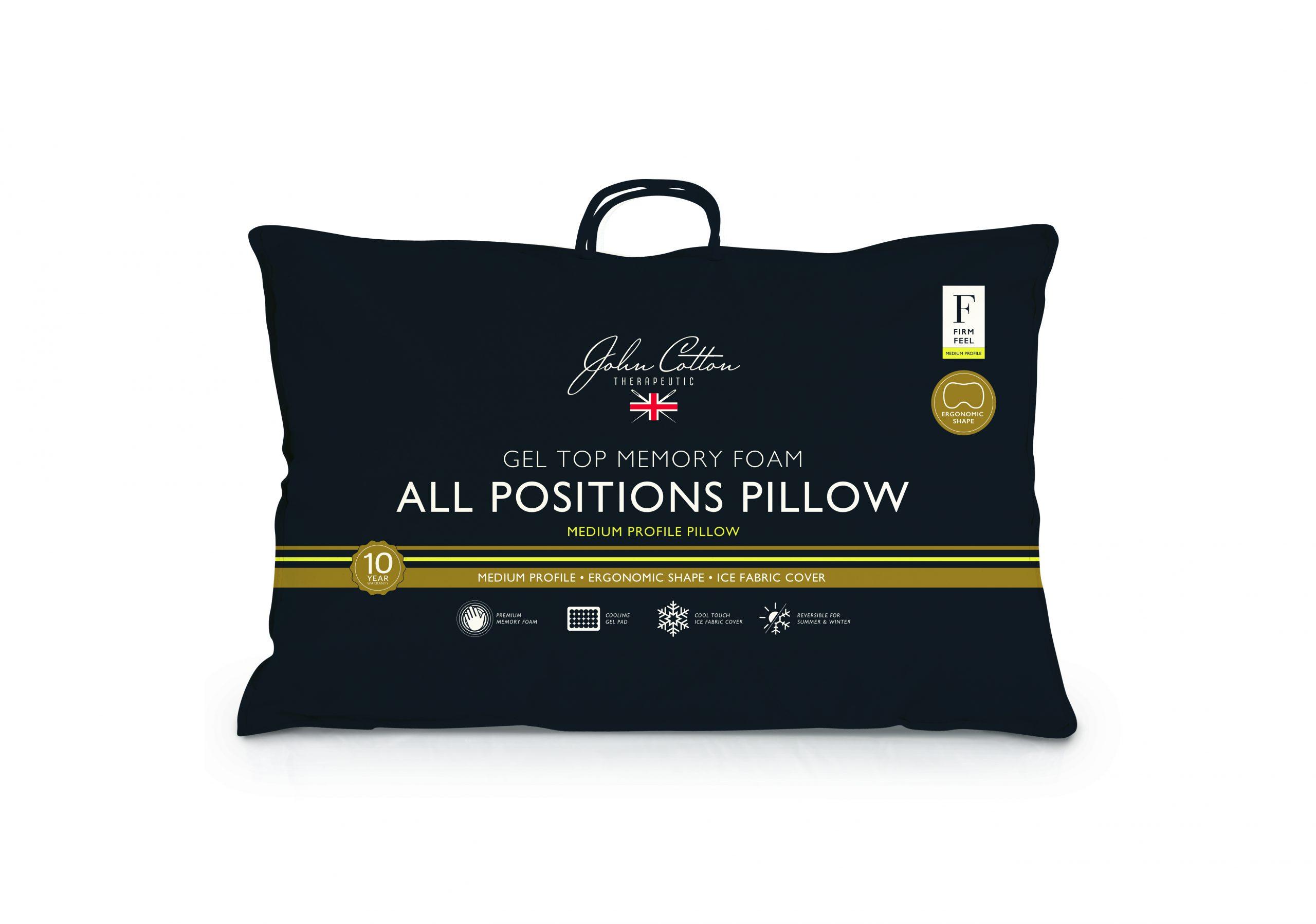 John Cotton All Positions Gel Top Memory Foam Pillow