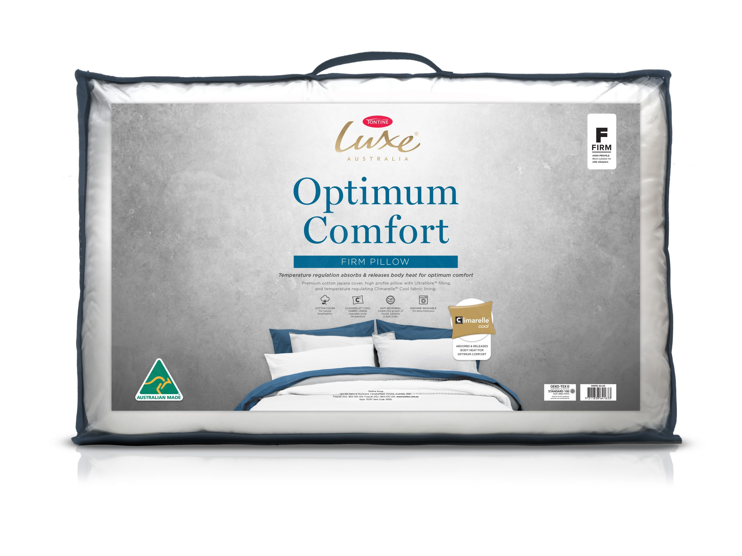 Tontine Luxe Optimum Comfort Temperature Control Firm Pillow