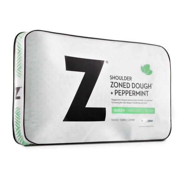 Malouf Z Shoulder Zoned Dough Pillow + Peppermint