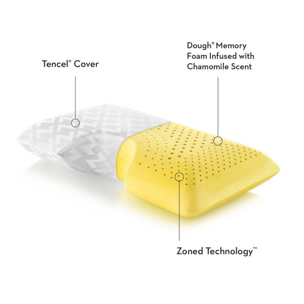 Malouf Z Shoulder Zoned Dough Pillow + Chamomile