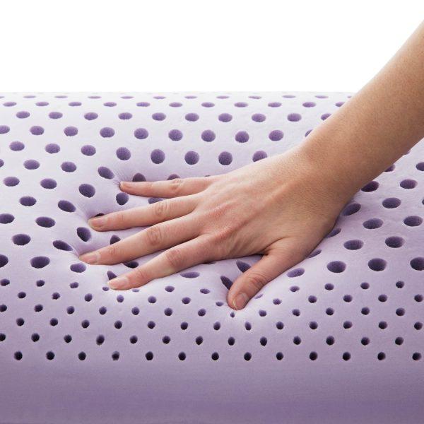 Malouf Zoned Dough Lavender Pillow with Aromatherapy Spray