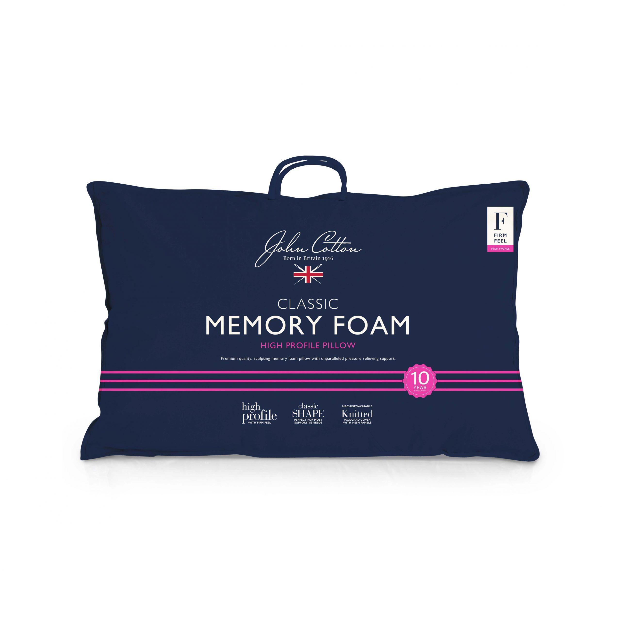 John Cotton High Profile Memory Foam Pillow