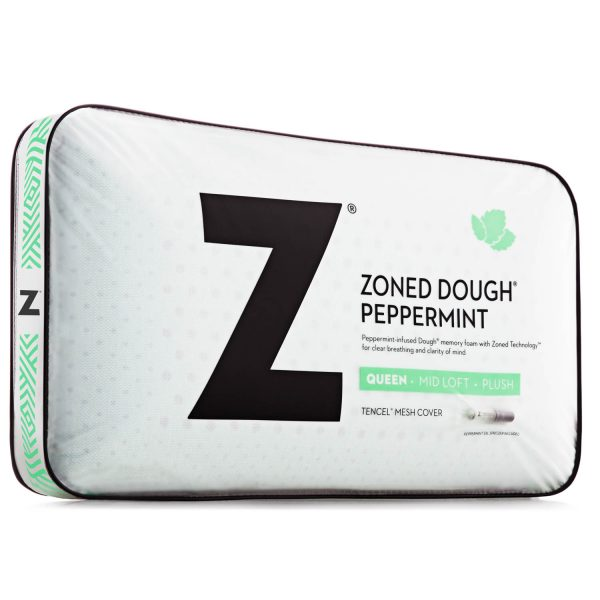 Malouf Zoned Dough Peppermint Pillow with Aromatherapy Spray