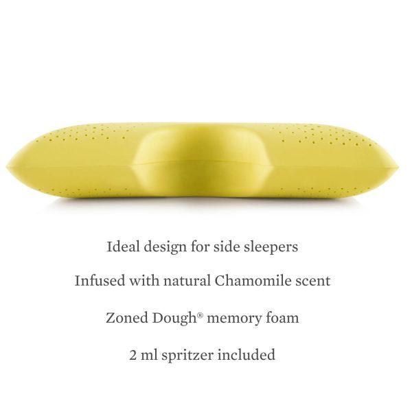 Malouf Z Shoulder Zoned Dough Pillow + Chamomile