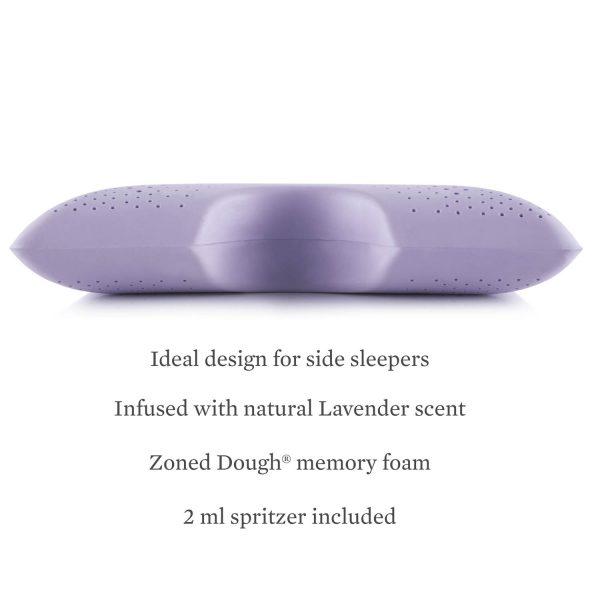 Malouf Z Shoulder Zoned Dough Pillow + Lavender