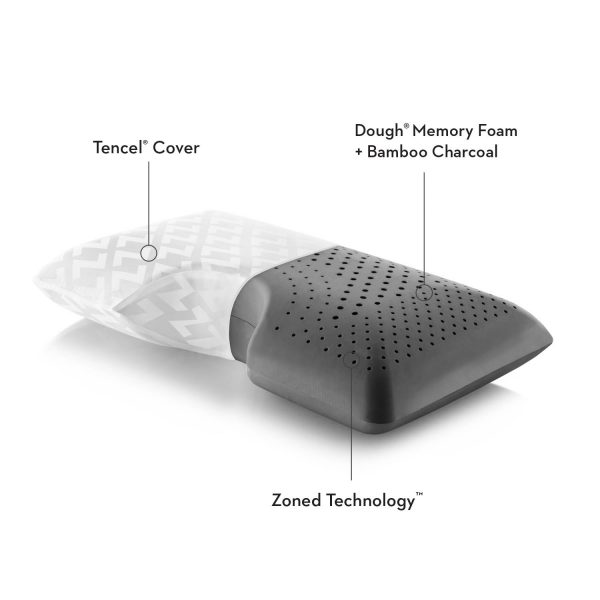 Malouf Z Shoulder Zoned Dough Pillow + Bamboo Charcoal